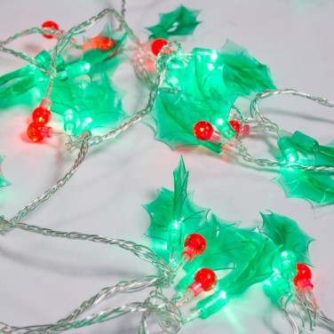 60 LED Holly Berry Lights