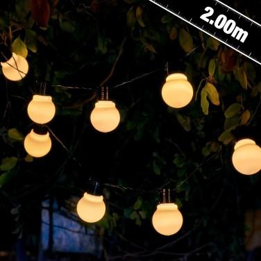 Auraglow Solar Festoon Lights White