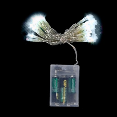 String Lights On Battery : Battery Operated Static String Lights