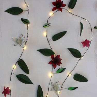 Clematis Metal Floral String Lights