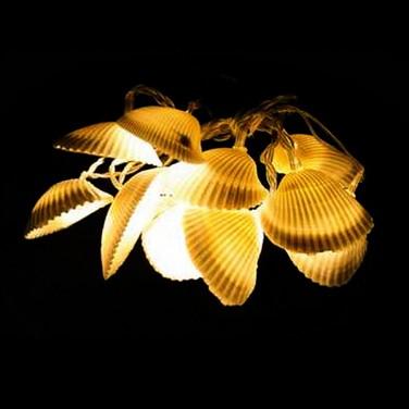 Seashell String Lights Outdoor : Battery Sea Shell String Lights