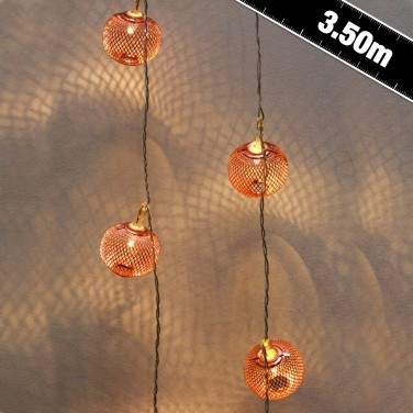 24 LED Copper Lantern Lights
