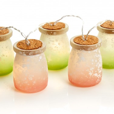 Frosted Jar String Lights