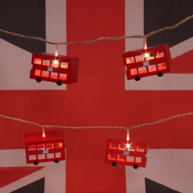 Battery Operated London Bus Fairy Lights