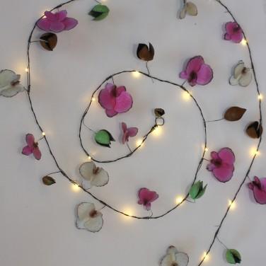 Orchid Metal Floral String Lights