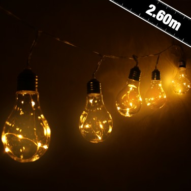5 Solar Light Bulbs Warm White