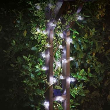 Solar Powered 25 Orb String Lights