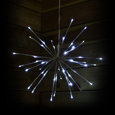 45cm White Sparkle Ball Light