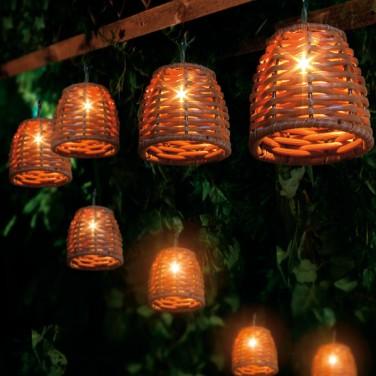 Wicker Cone Lights