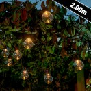 Auraglow Solar Festoon Lights Clear