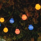 Auraglow Solar Festoon Lights Multicoloured