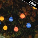 Auraglow Solar Festoon Lights Multicoloured