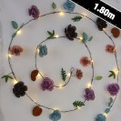 Rose Metal Floral String Lights