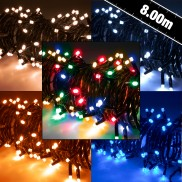 80 LED Battery Timer Lights