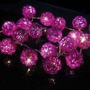 Purple Rattan Stringlights