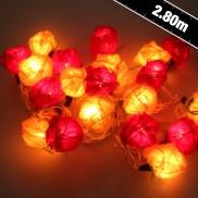 Red/Cream Rose String Lights