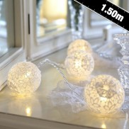 White Lace Ball Fairy Lights